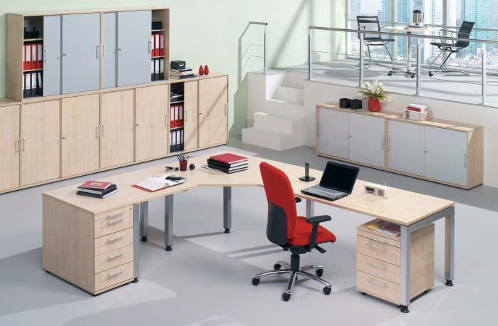 B rom bel schnell lieferprogramm ihr for Schreibtisch quadro